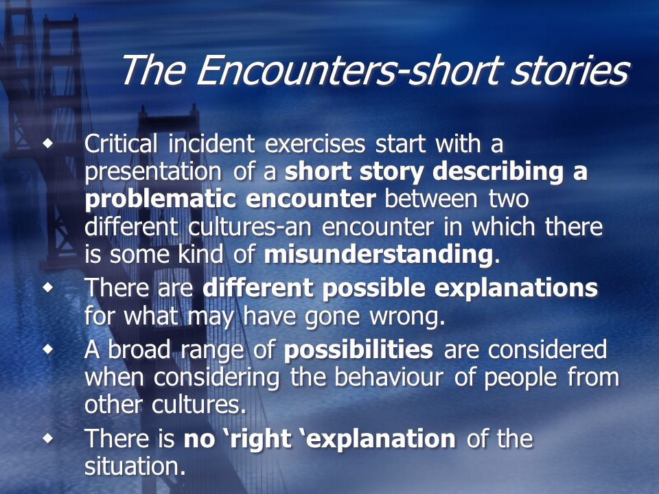 The Encounters-short stories