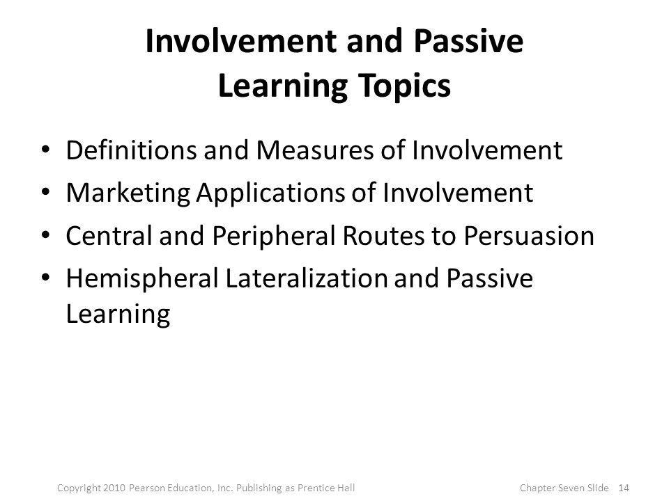 Involvement and Passive Learning Topics