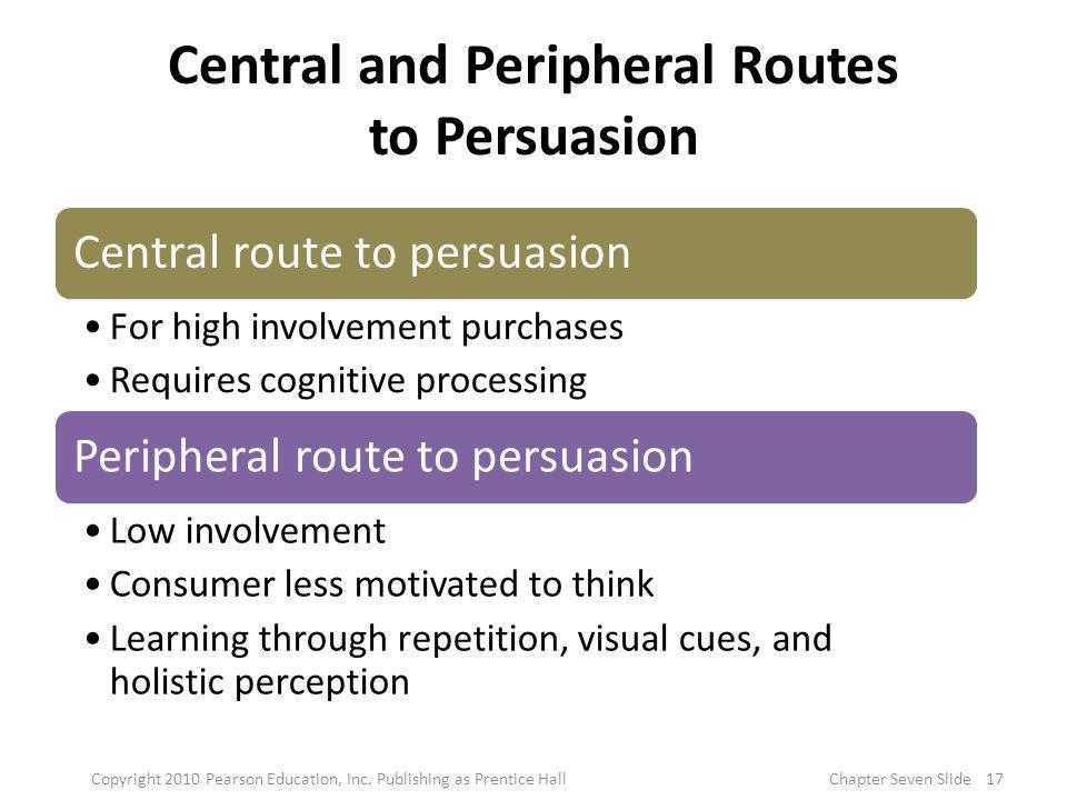 Central and Peripheral Routes to Persuasion