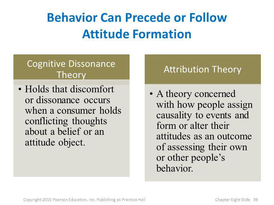 Behavior Can Precede or Follow Attitude Formation