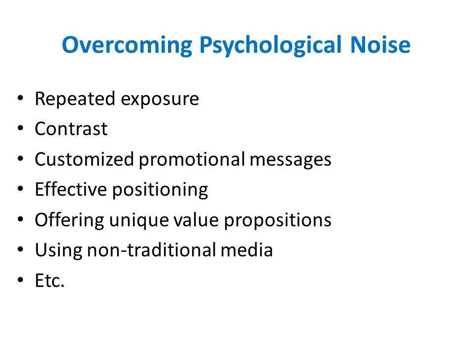 Overcoming Psychological Noise