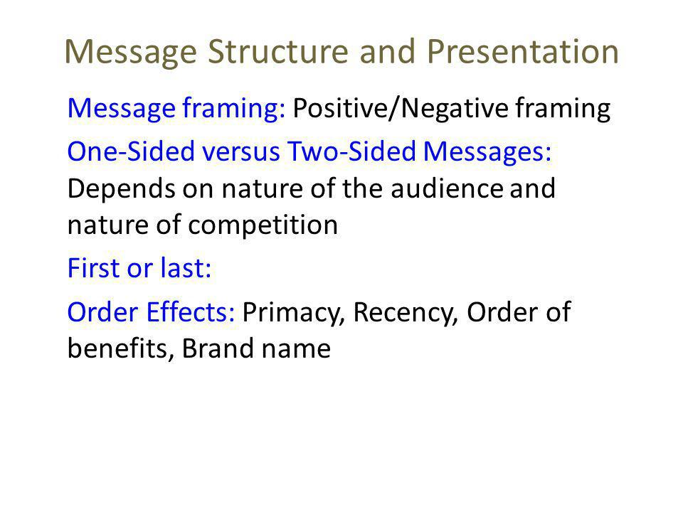 Message Structure and Presentation
