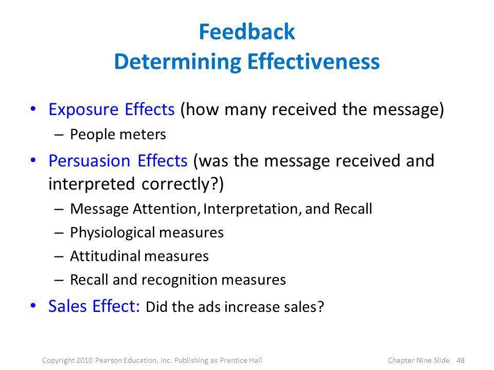 Feedback Determining Effectiveness