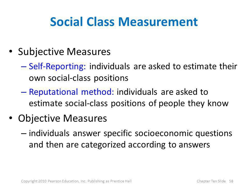 Social Class Measurement