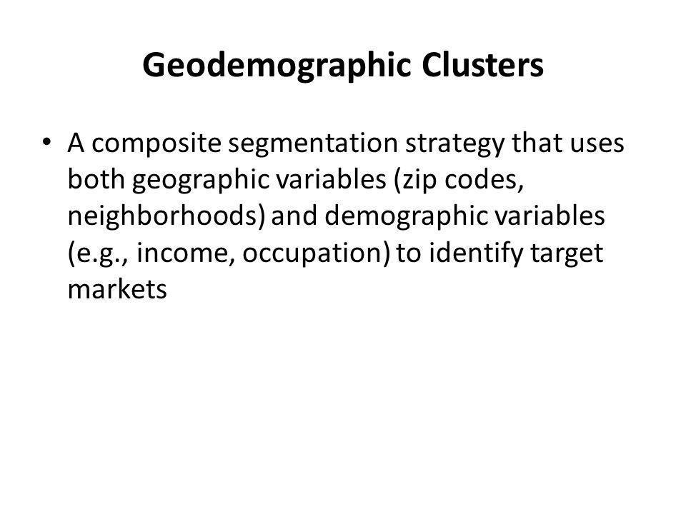 Geodemographic Clusters