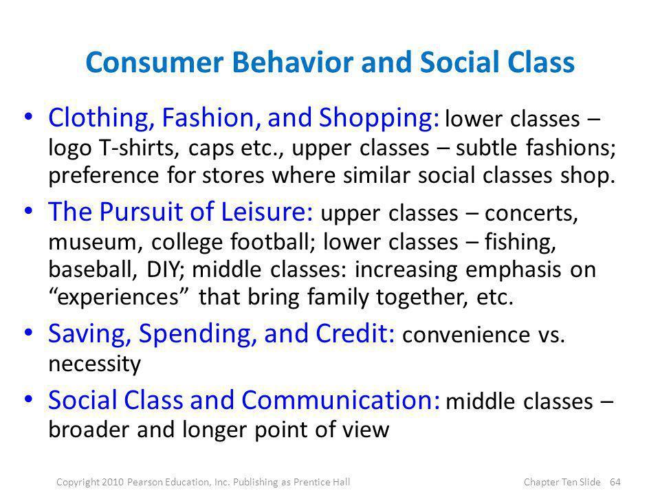 Consumer Behavior and Social Class