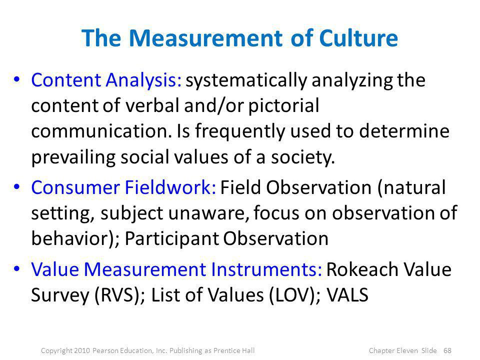 The Measurement of Culture