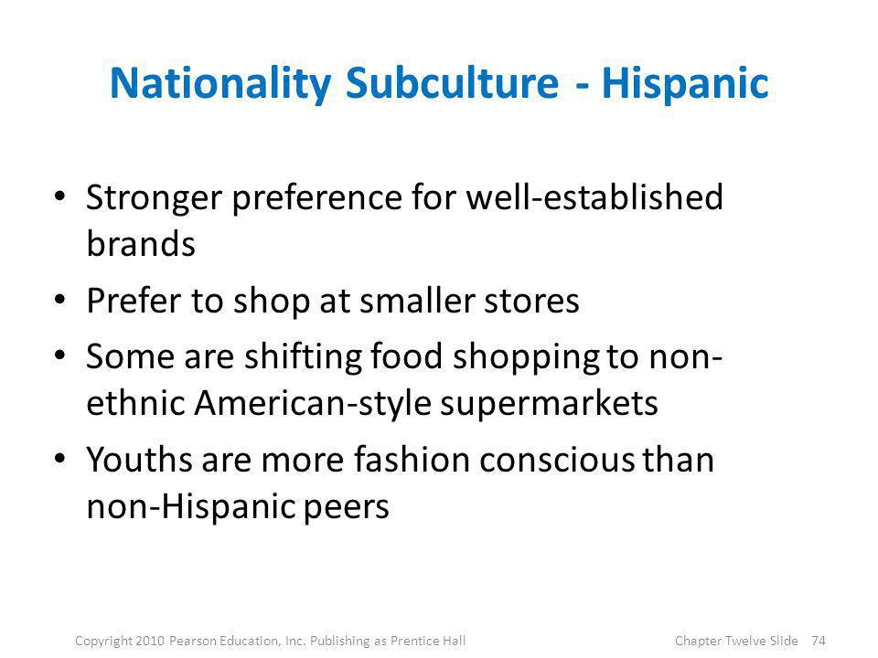 Nationality Subculture - Hispanic