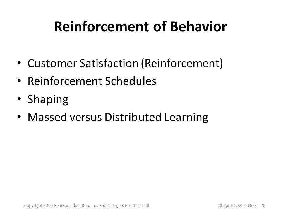 Reinforcement of Behavior