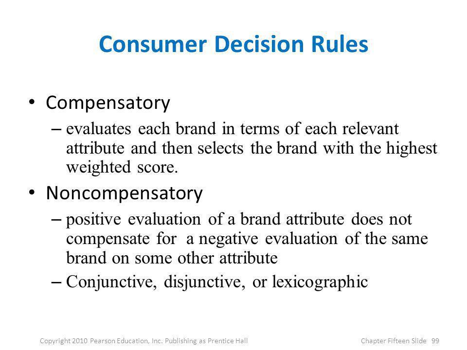 Consumer Decision Rules
