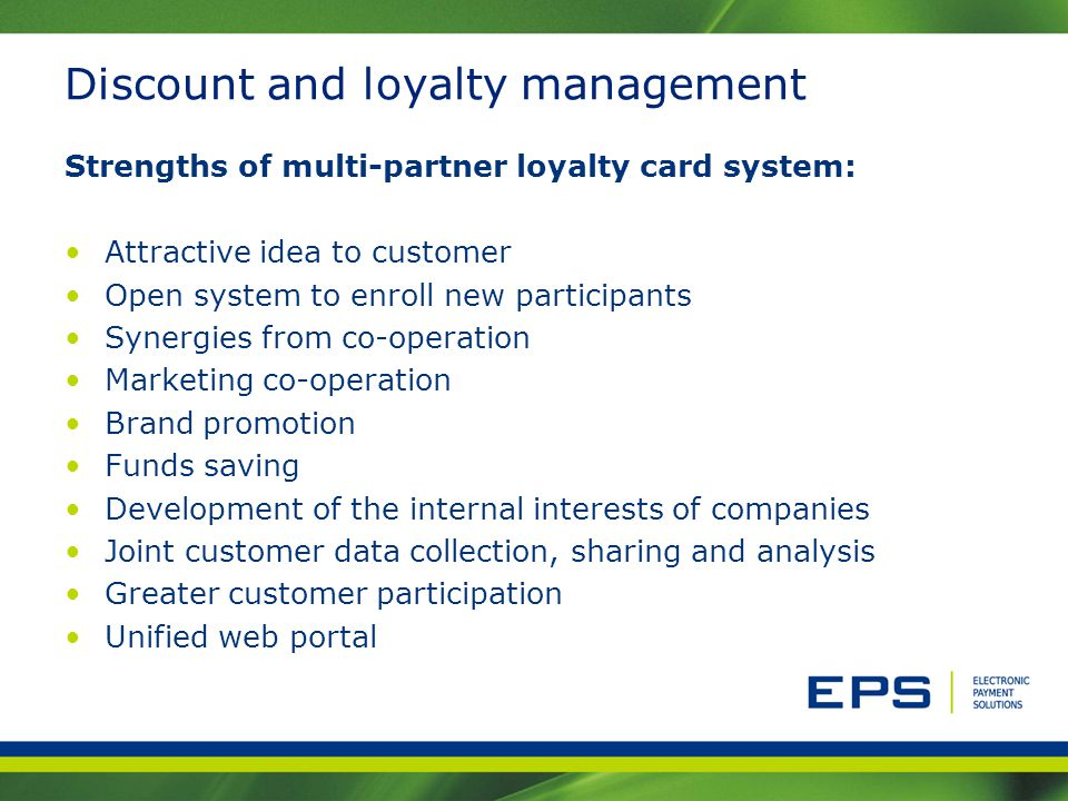 Discount and loyalty management