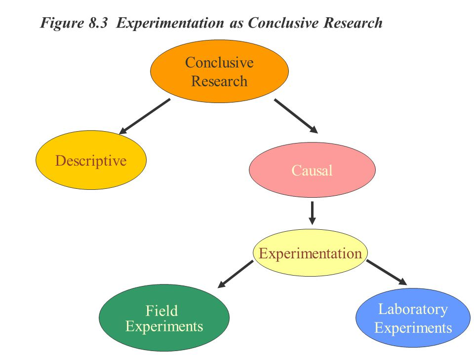Figure 8.3 Experimentation as Conclusive Research