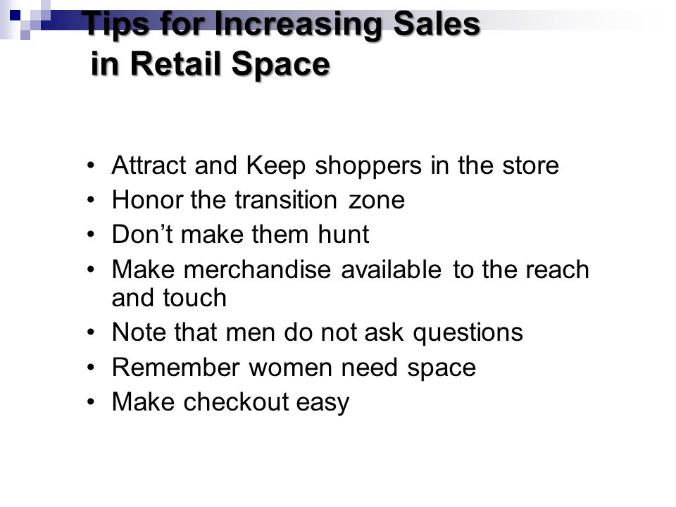 Tips for Increasing Sales in Retail Space