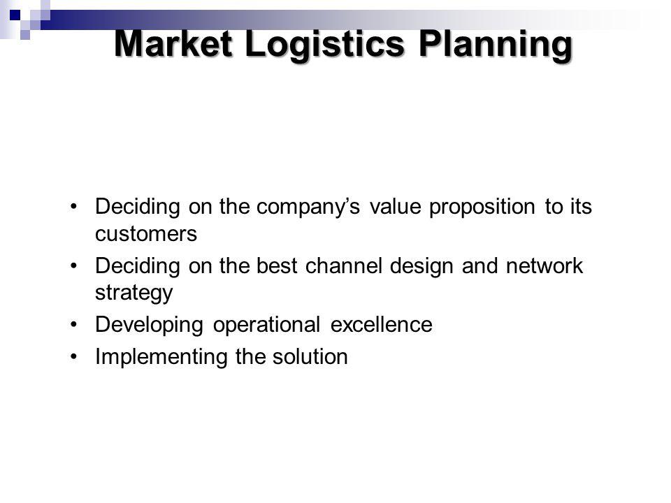 Market Logistics Planning