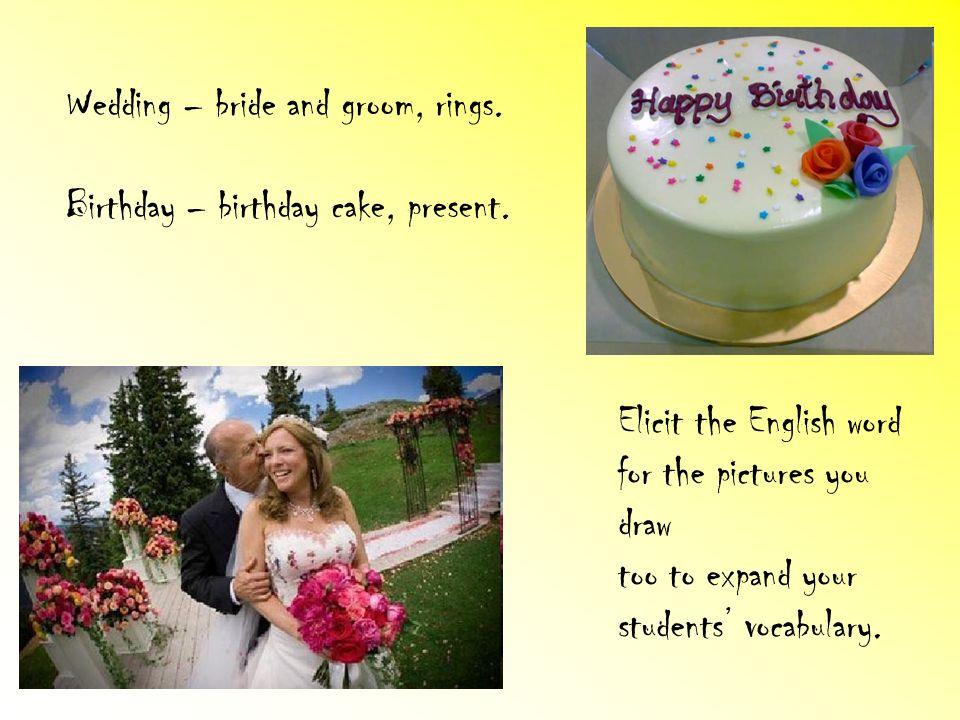Wedding – bride and groom, rings.