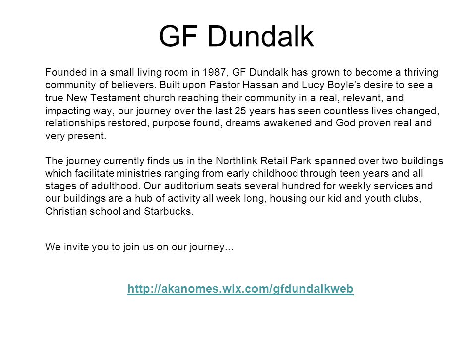 GF Dundalk http://akanomes.wix.com/gfdundalkweb