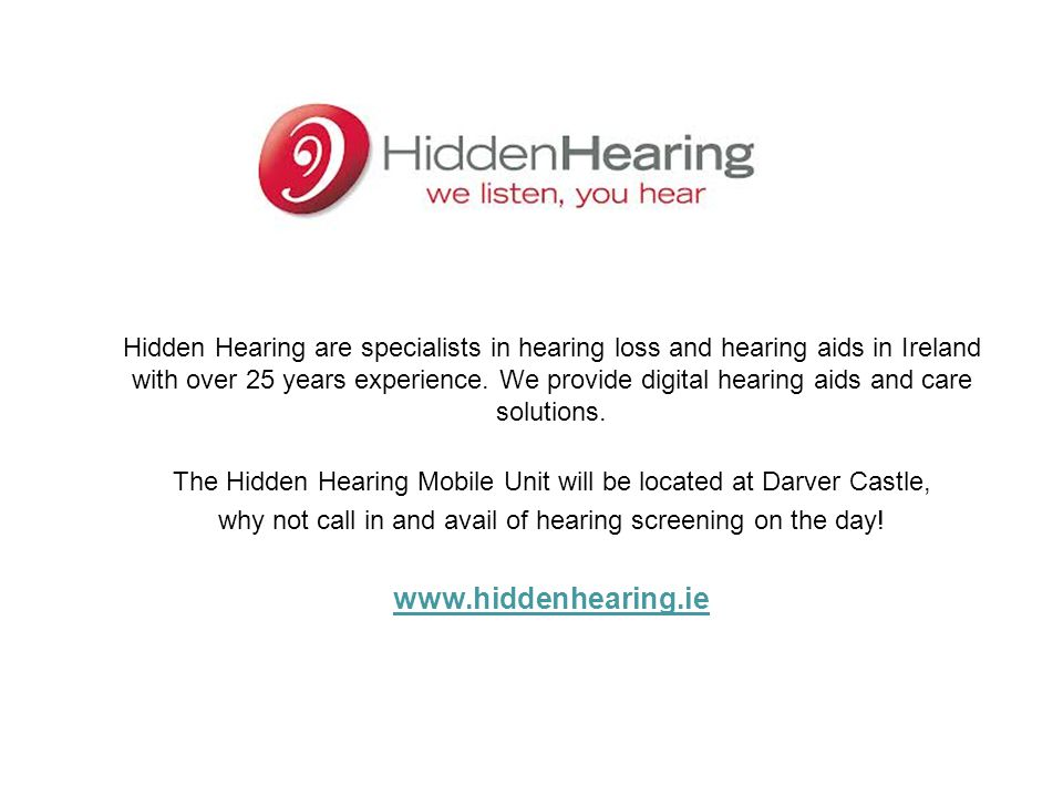 Hidden Hearing are specialists in hearing loss and hearing aids in Ireland with over 25 years experience. We provide digital hearing aids and care solutions.