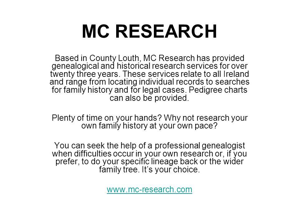MC RESEARCH