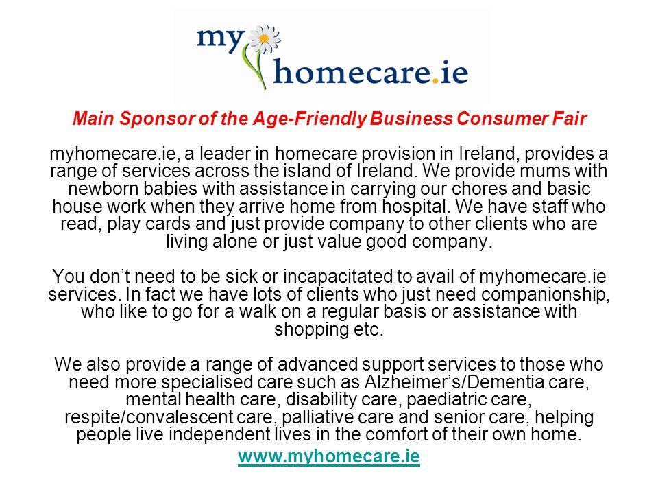 Main Sponsor of the Age-Friendly Business Consumer Fair