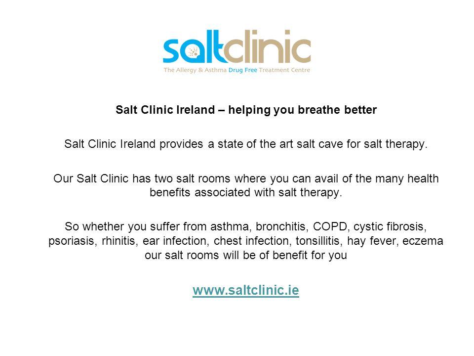 Salt Clinic Ireland – helping you breathe better