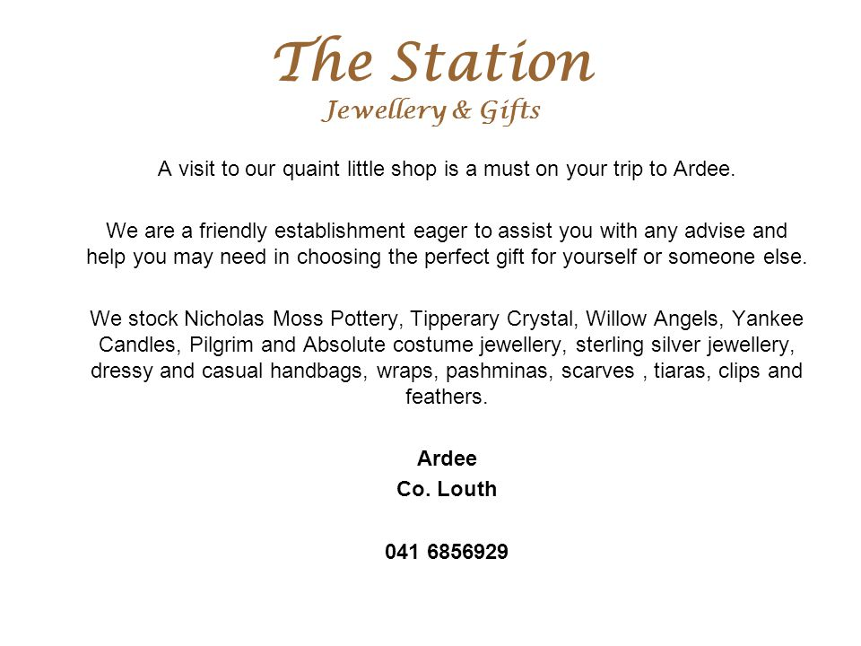 The Station Jewellery & Gifts