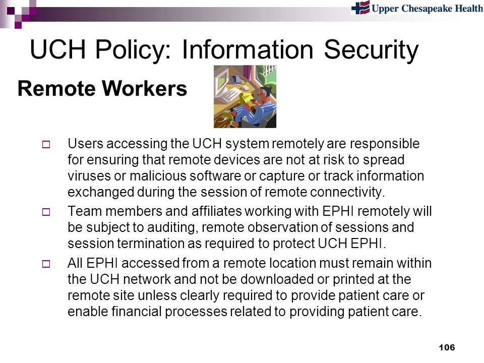 UCH Policy: Information Security