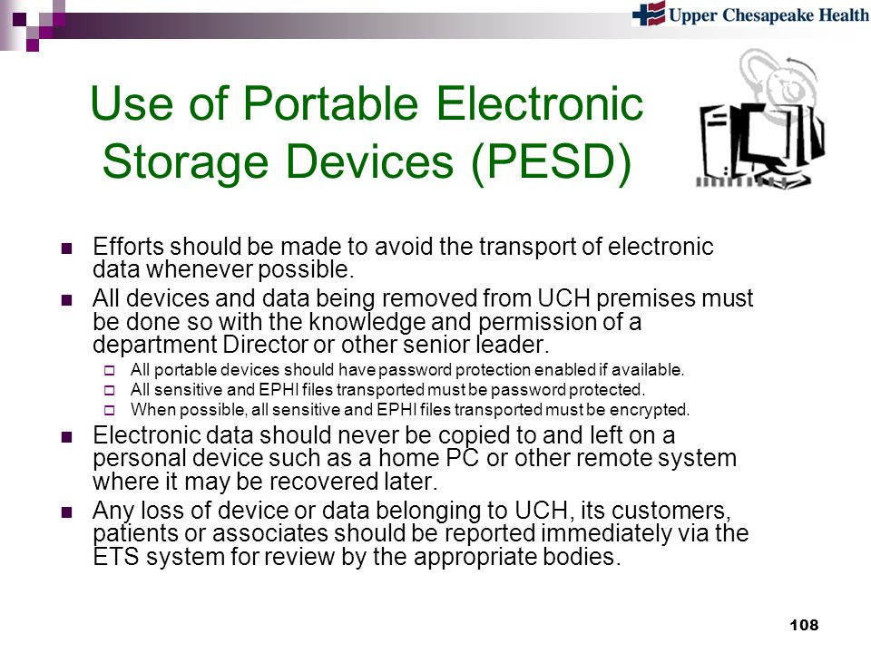Use of Portable Electronic Storage Devices (PESD)
