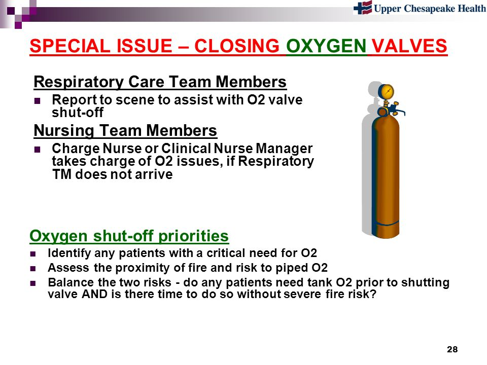 SPECIAL ISSUE – CLOSING OXYGEN VALVES