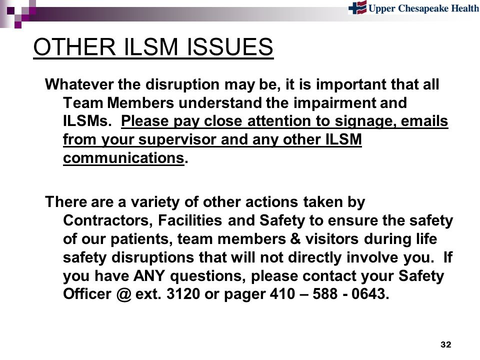 OTHER ILSM ISSUES