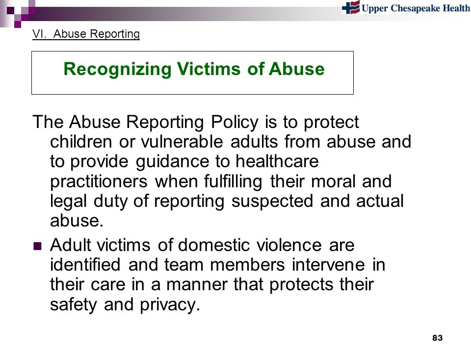 Recognizing Victims of Abuse