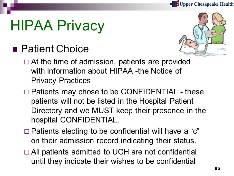 HIPAA Privacy Patient Choice