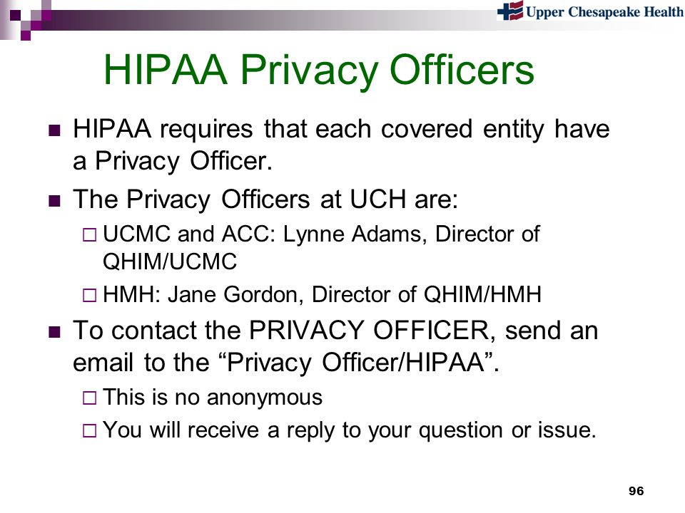 HIPAA Privacy Officers