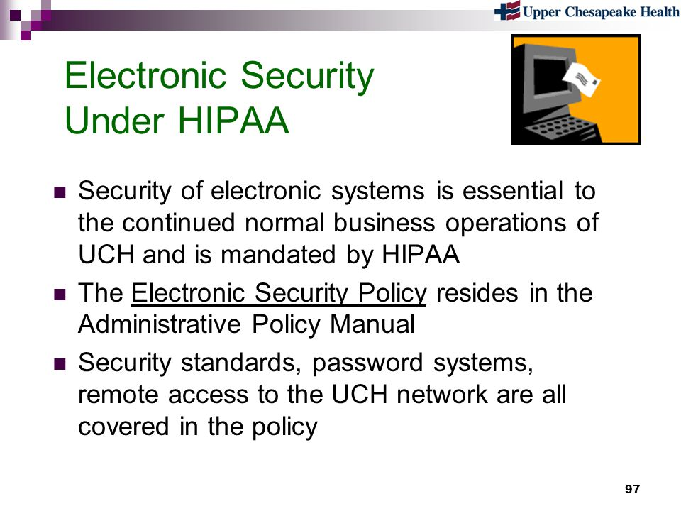 Electronic Security Under HIPAA