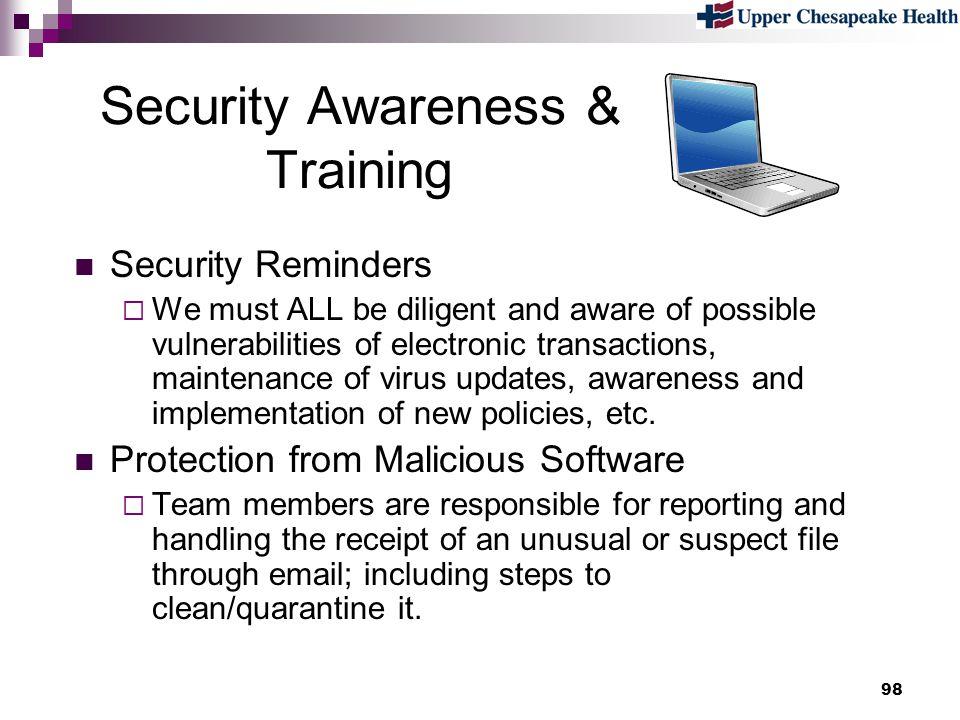 Security Awareness & Training