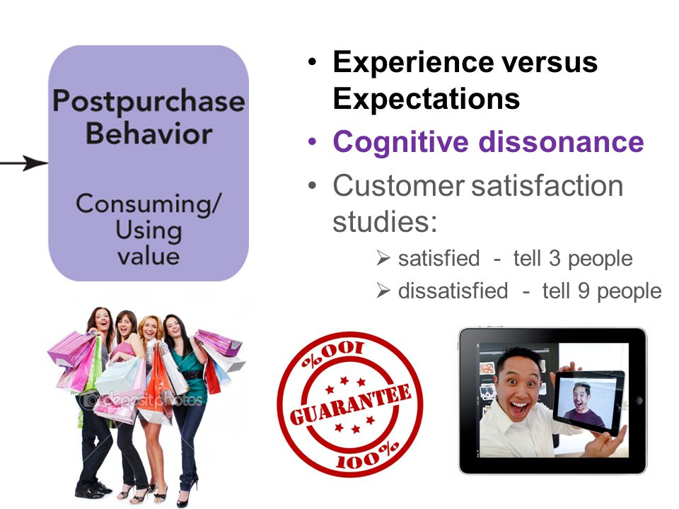 Experience versus Expectations Cognitive dissonance