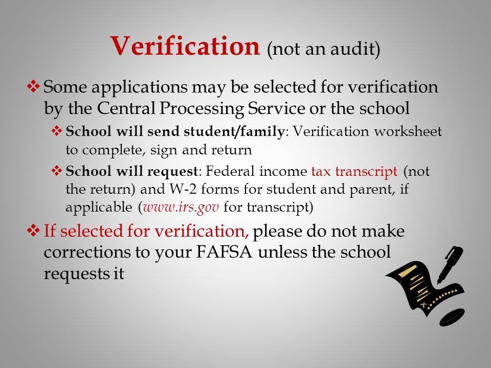 Verification (not an audit)