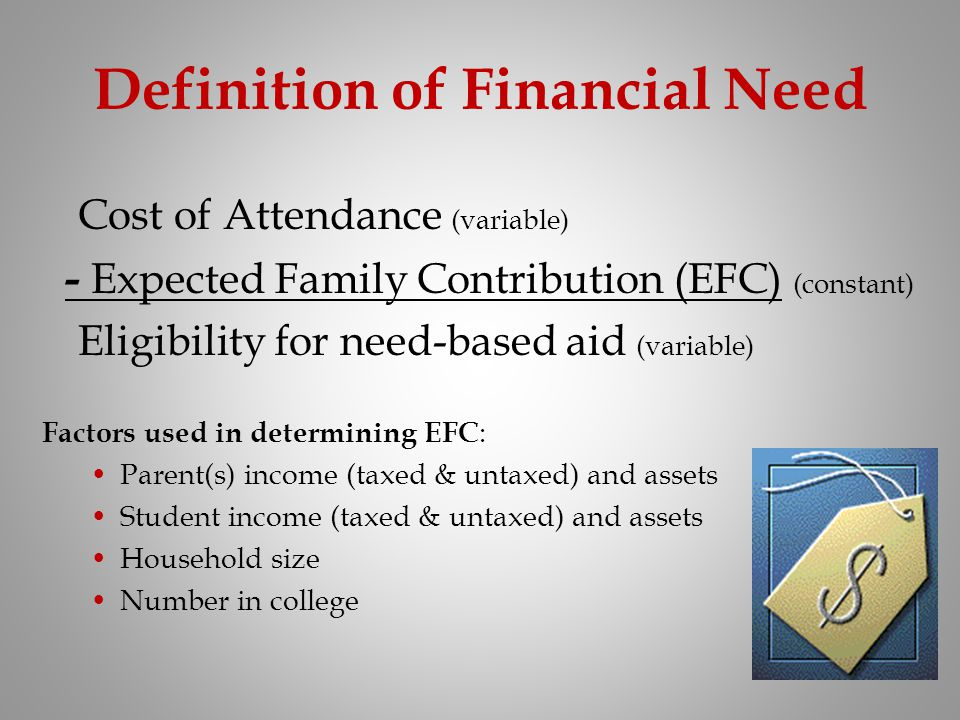 Definition of Financial Need