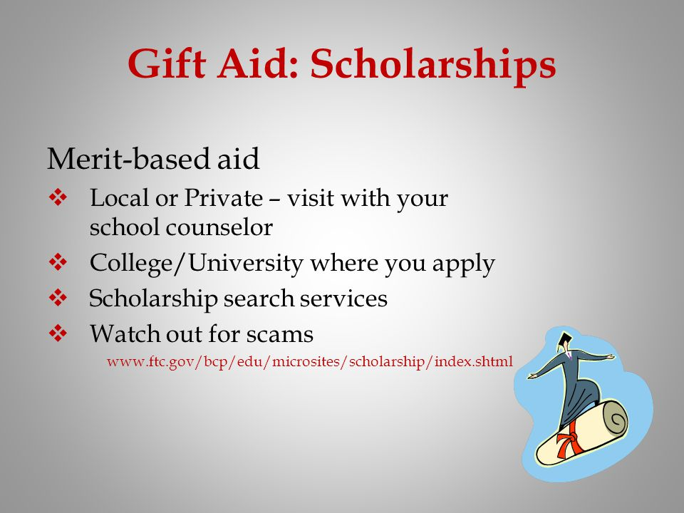 Gift Aid: Scholarships