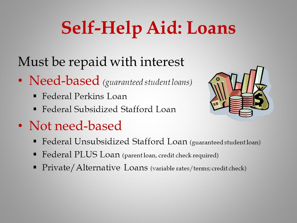Self-Help Aid: Loans Must be repaid with interest