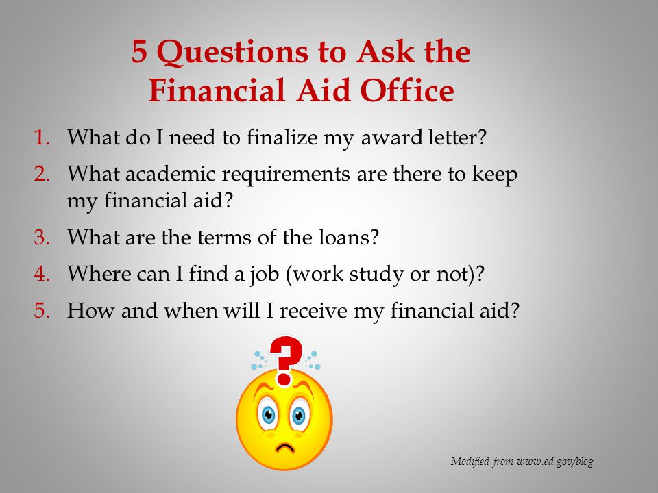 5 Questions to Ask the Financial Aid Office