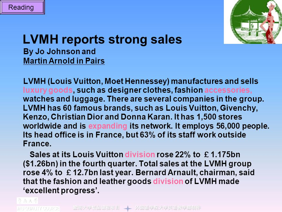 LVMH reports strong sales