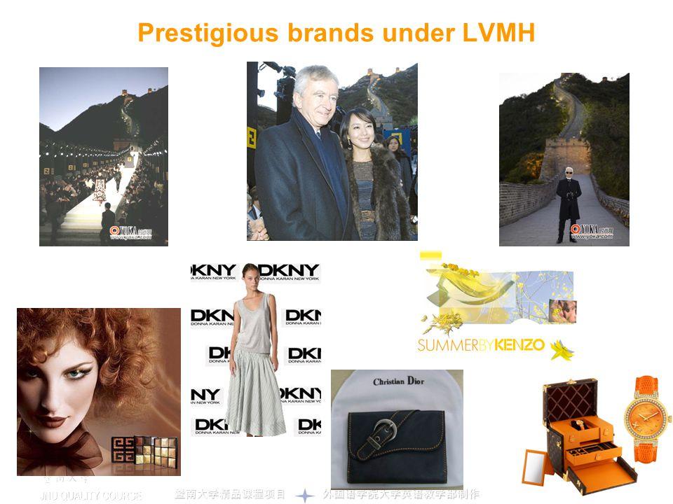 Prestigious brands under LVMH