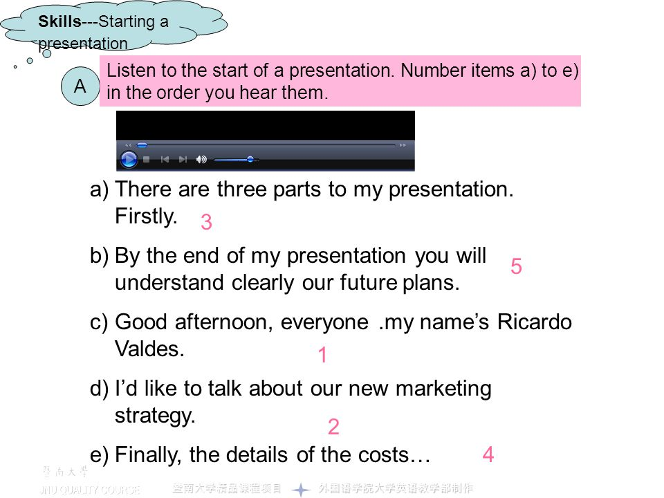There are three parts to my presentation. Firstly.