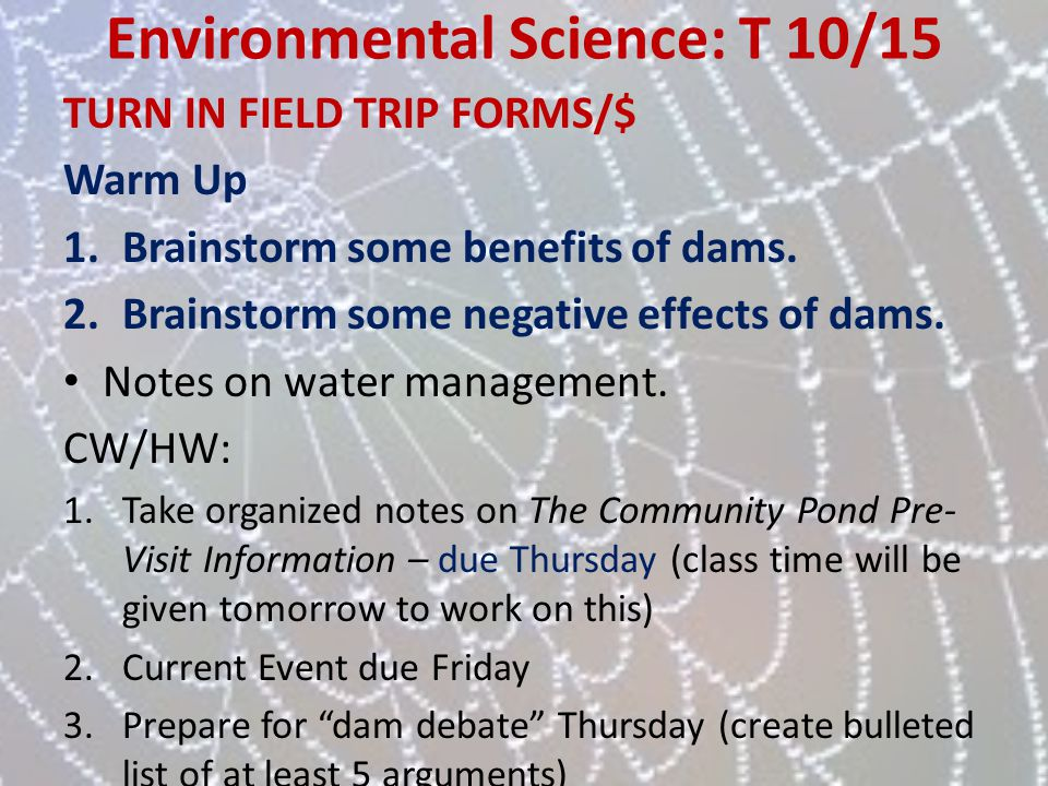Environmental Science: T 10/15