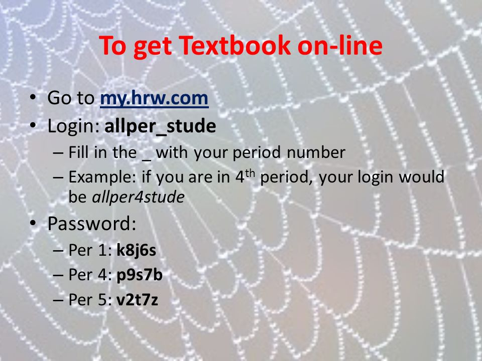 To get Textbook on-line