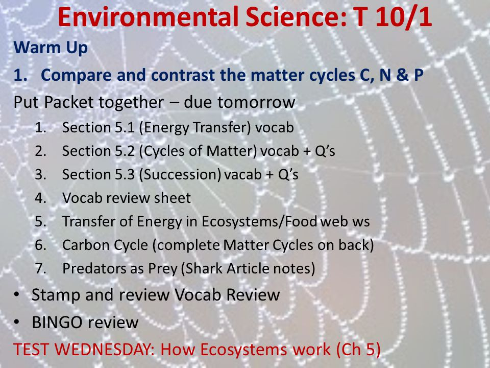 Environmental Science: T 10/1
