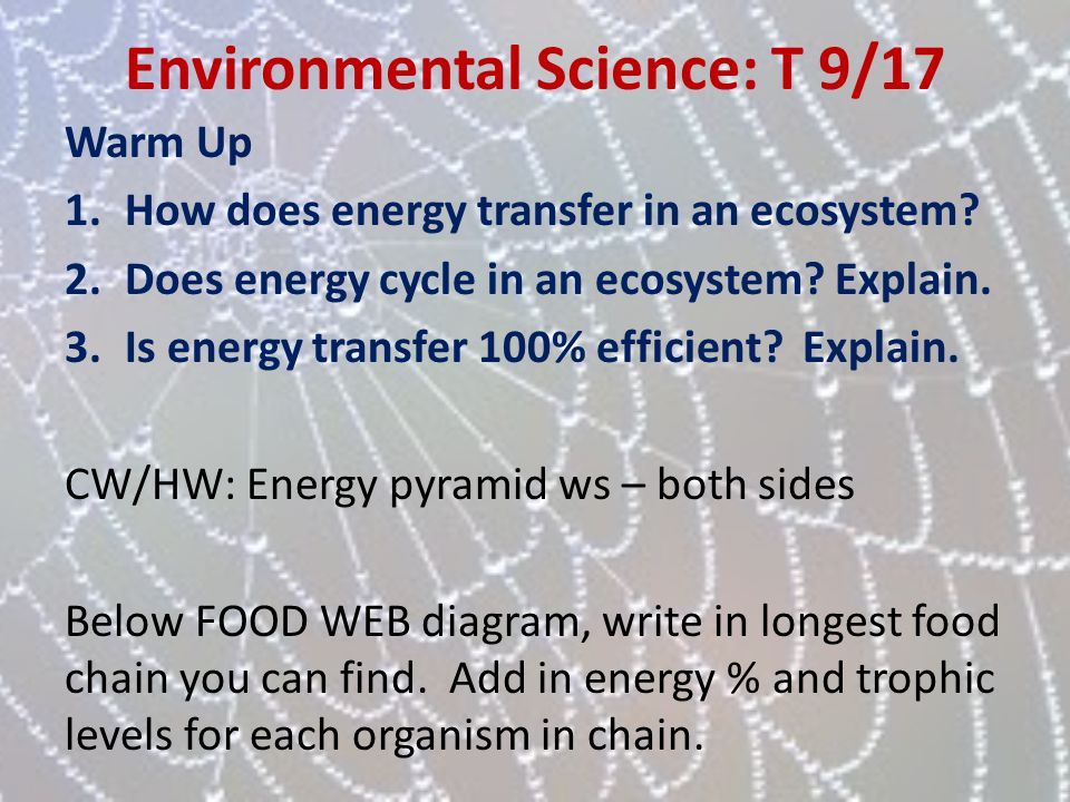Environmental Science: T 9/17