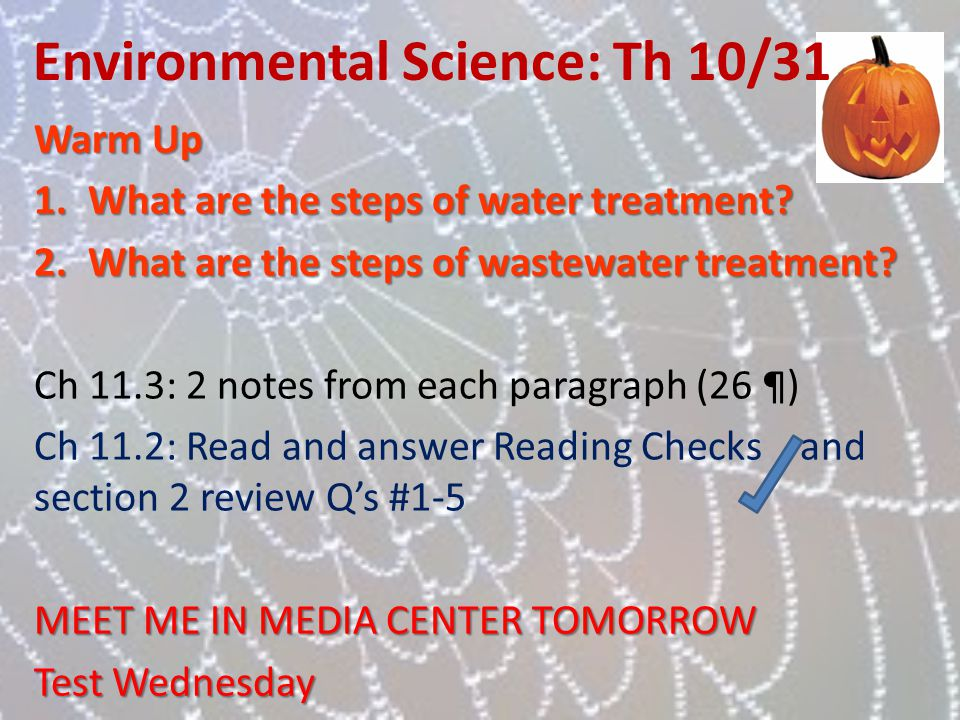 Environmental Science: Th 10/31