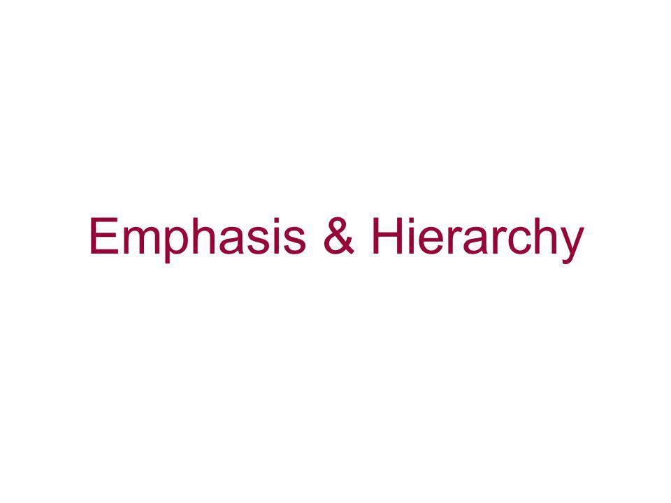 Emphasis & Hierarchy