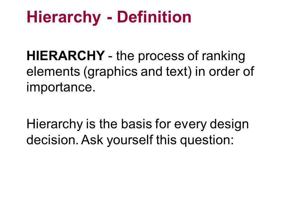 Hierarchy - Definition